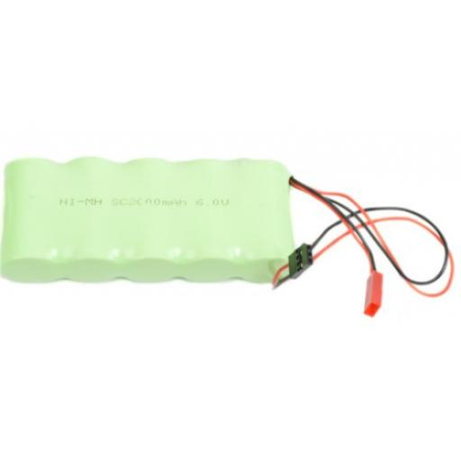 6v NiMH 2000mAh RC Rechargeable RC Receiver Battery - JST / Futaba