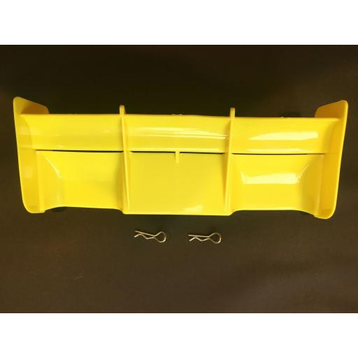 Rear Wing for 1/8 Buggy or Truggy - Yellow