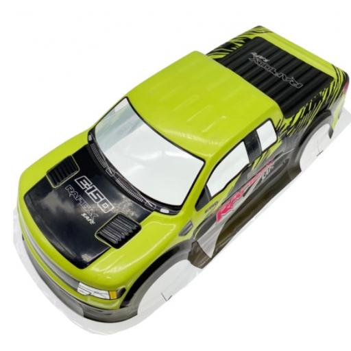Ford F150 Yellow Universal 1/10 1/8 Truck Body Shell