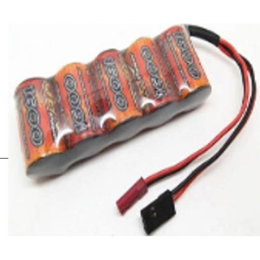 6v NiMH 1600mAh RC Rechargeable RC Receiver Battery - JST / Futaba