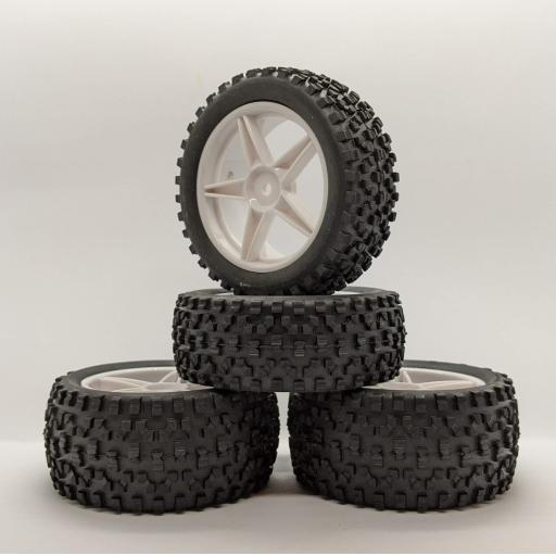 1/10 Buggy / Truck wheels 12mm Hex fitting in White. Set of four.