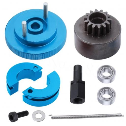 Flywheel + Clutch +16T Tooth Clutch Bell & Bearings set for Nitro Engines
