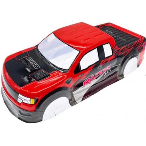 Ford F150 Red Universal 1/10 1/8 Truck Body Shell