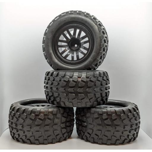 1/10 Truck Wheels 12mm Hex fitting. HSP, HPI Savage etc Set of four