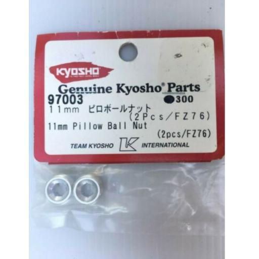 KYOSHO FW04 DBX DRT DST DRX DBXve, PILLOW BALL NUTS, 11mm (2 pieces) 97003, FZ76