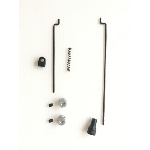 Brake and Throttle Linkage rod set. Universal fit for Nitro RC Car Buggy Truck
