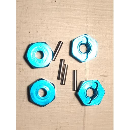 12mm Hex wheel drive with pins - Blue