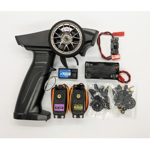 2.4GHZ 3CH RC Transmitter, Receiver and Servo set + built in failsafe.