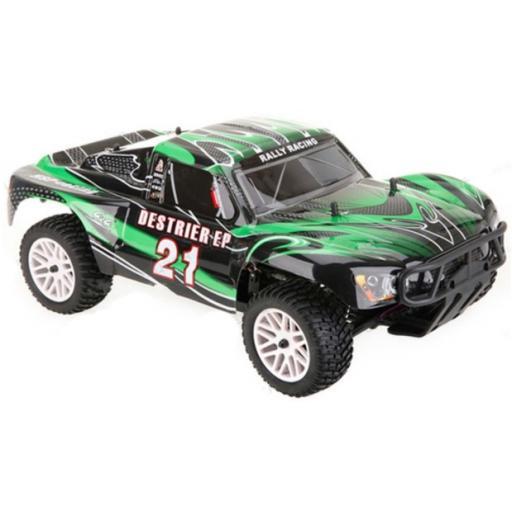 Short Course / Stadium Truck Body Shell Green Universal 1/8
