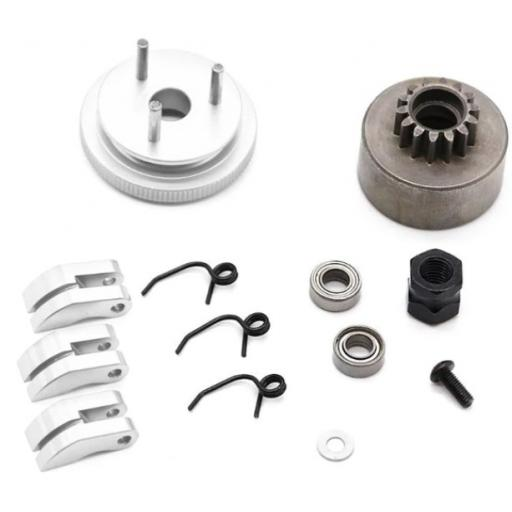 Flywheel + Clutch +14T Tooth Clutch Bell & Bearings set for 1/8 Nitro Engines