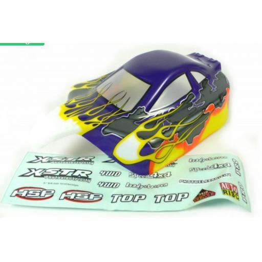 Buggy Body Shell Universal Fit - Purple / Yellow 1/10 Buggies