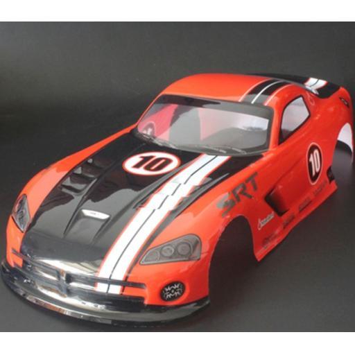 Dodge Viper Red Universal 1/10 Car Body Shell