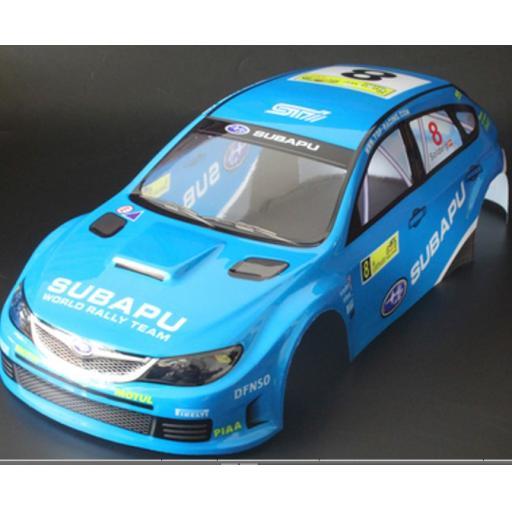 Subaru WRC WRX RC car body shell Blue No 8 1/10 Cars