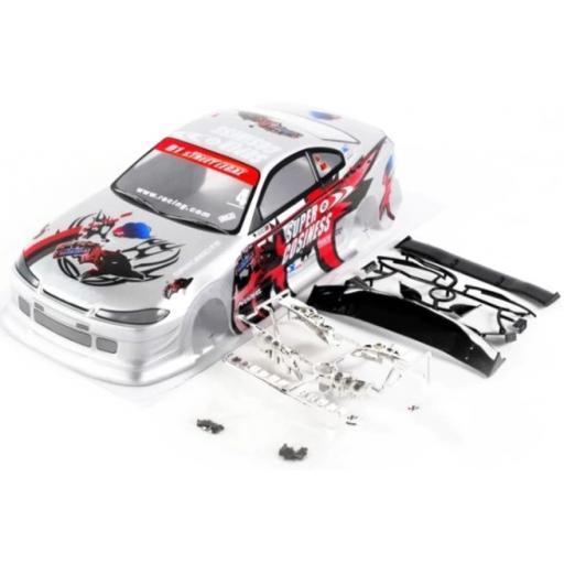 RC Racing Car Body Shell Fits 1/10 Cars + Spoiler etc.-