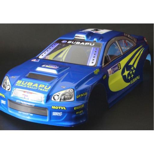 Subaru WRC WRX RC car body shell Blue No 5 1/10 Cars