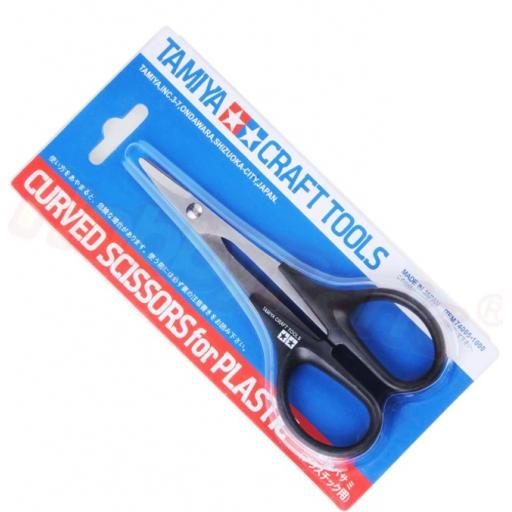 RC Body Scissors, Tamiya Branded, Slightly Curved. Made from Stainless Steel