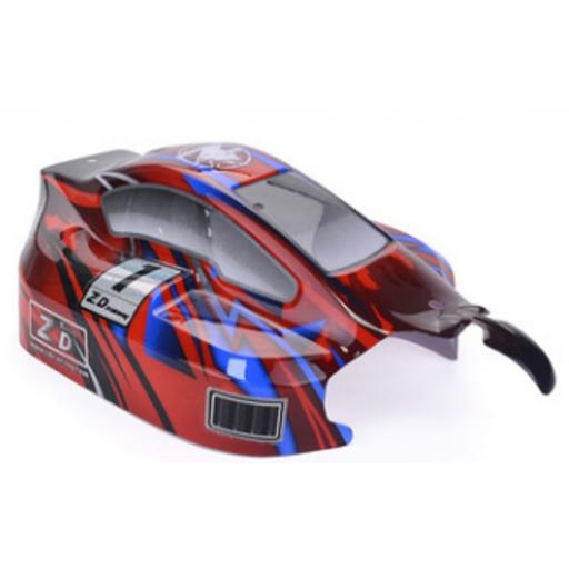 RC Buggy Body Shell Fits 1/8 Buggies + Stickers Universal - ZD Racing Red