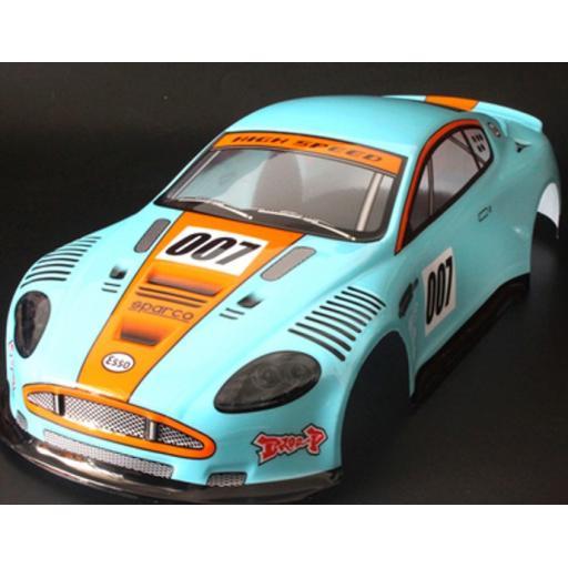 RC Aston Martin James Bond 007 1/10 car body shell predecorated.