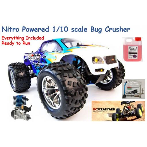 HSP Bug Crusher 1/10 Nitro Engine Truck - Bundle Special with Fuel and starter - Ready to run
