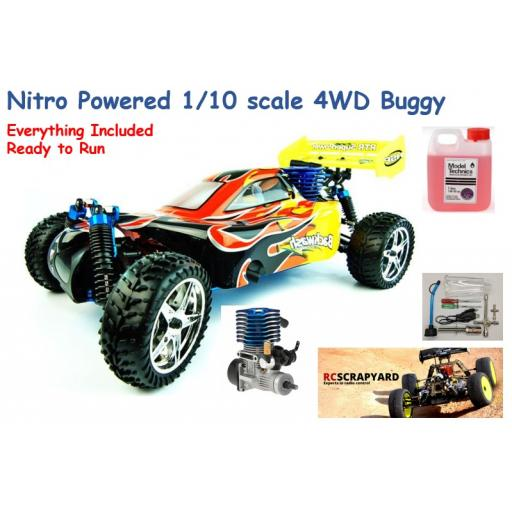 HSP Pro XSTR Backwash 2 speed Nitro Engine Buggy 1/10 complete and ready to run