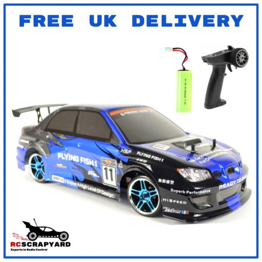 HSP Flying Fish Subaru Drifter 1/10 Battery Operated RC car- Hobby Grade - Not a toy. + Comes with Battery RTR