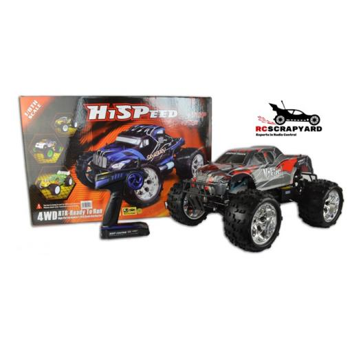 RC Nitro Petrol Engine 2 Speed 1/8 Scale Monster Truck + Tools and Fuel RTR