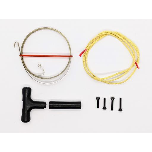 Pull Start repair kit for Nitro Engines. Includes Spring, Handle & Kev-lar Cord