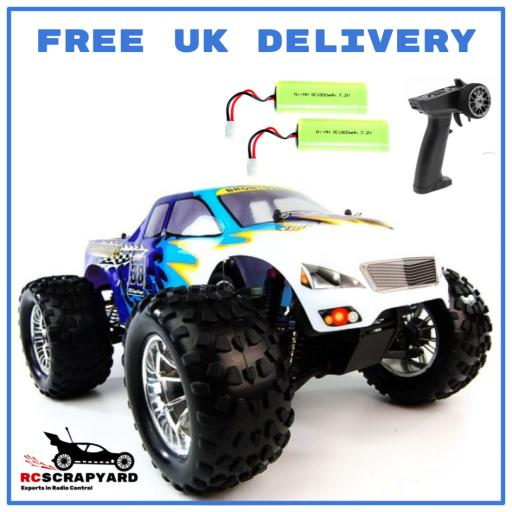 HSP Ice Blue Bug Crusher 1/10 Battery Operated Truck - Hobby Grade - Not a toy. + Comes with 2 x Batteries